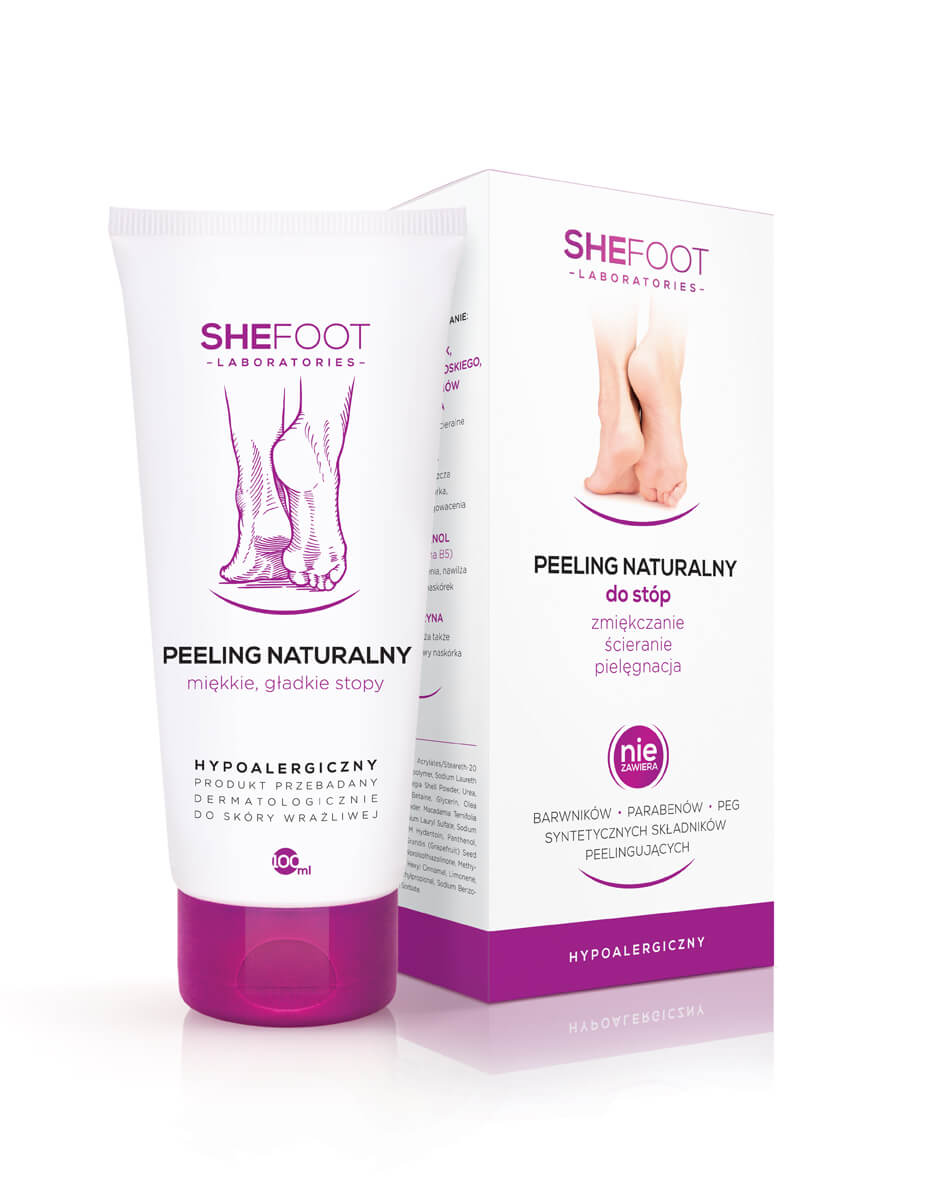 Peeling naturalny do stóp 100ml - SheFoot